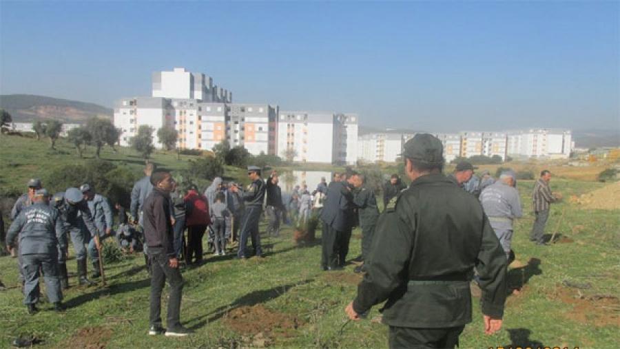 صورة حملة بوهران لمحاربة البنايات الفوضوية بالمساحات الغابية