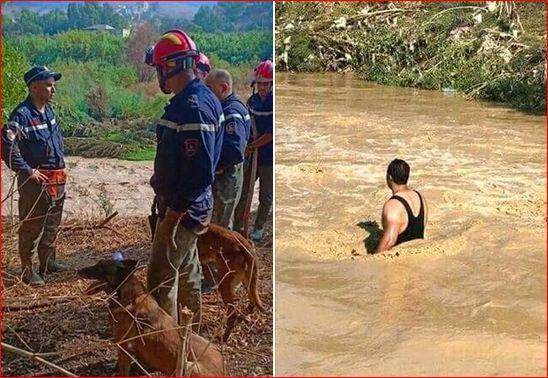 صورة تجنيد 240 عون حماية مدنية للبحث عن الشخص المفقود بقسنطينة
