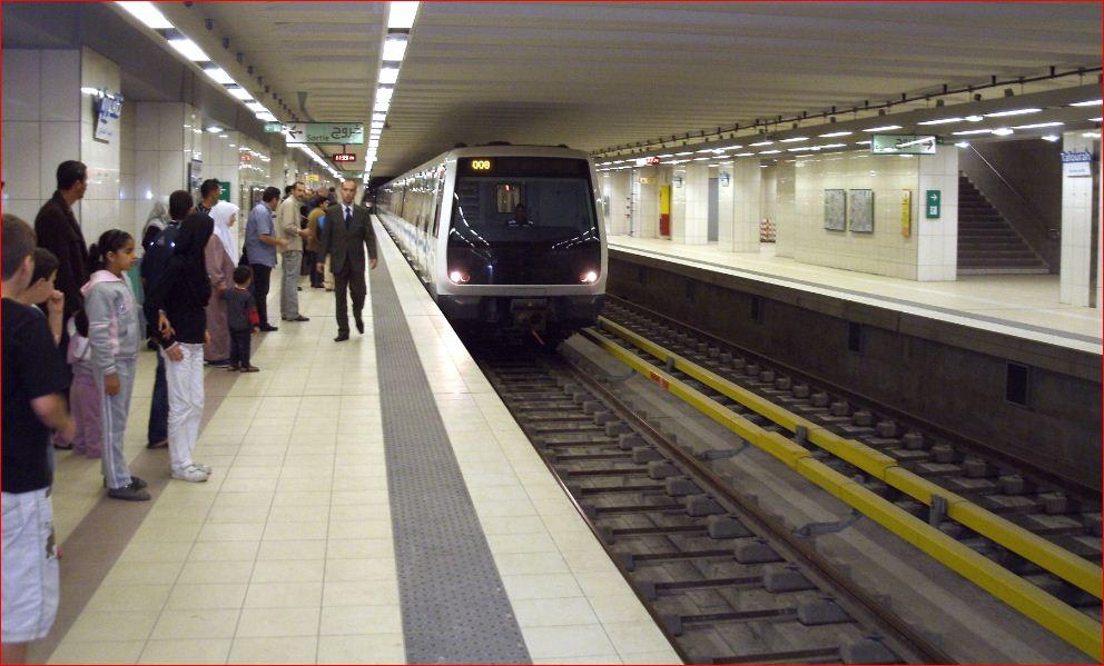 صورة انطلاق مشاريع توسعة مترو الجزائر وترامواي