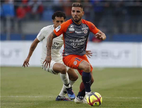 صورة مشادة بين الدولي الجزائري أندي ديلور ونيمار في الدوري الفرنسي