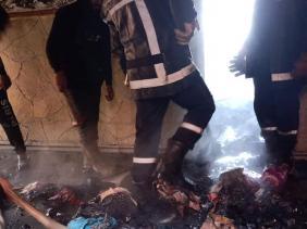 صورة إنقاذ 11 شخصا بينهم 3 رضع من الاختناق بعد احتراق مسكن بمستغانم