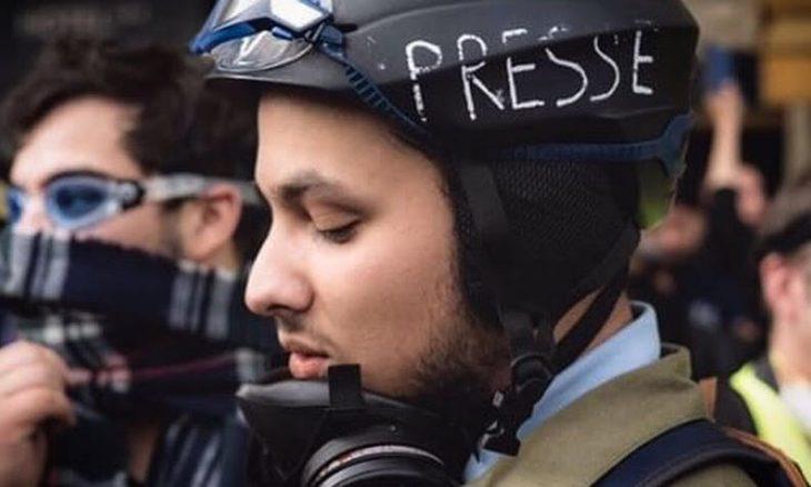 صورة توقيف صحافي جزائري ـ فرنسي نشر معلومة عن ماكرون