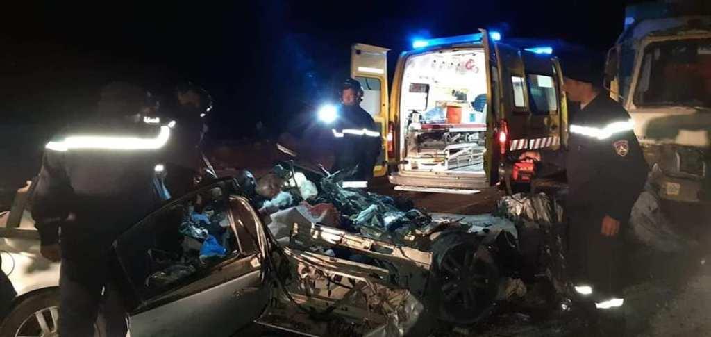 صورة وفاة شخص وجرح ثلاث آخرين في حادث مرور بالطريق السيار شرق-غرب