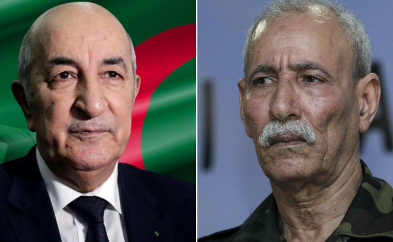 صورة تبون يهنئ الرئيس الصحراوي بمناسبة إعادة انتخابه أمينا عاما لجبهة البوليساريو