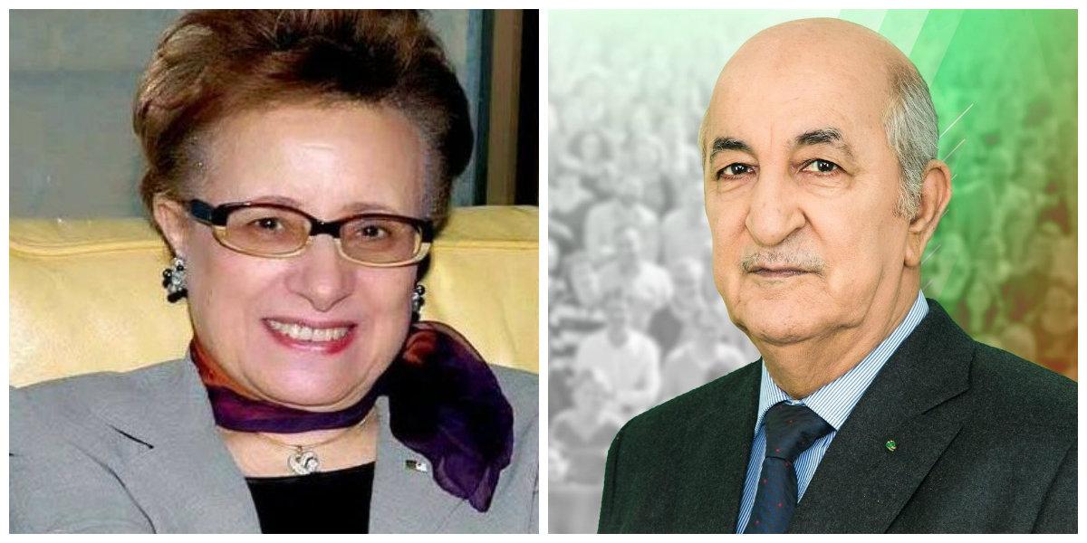 صورة رئيس الجمهورية يستقبل الوزيرة السابقة زهور ونيسي