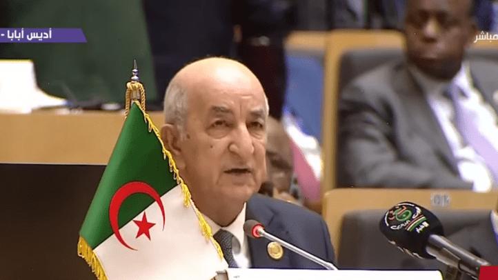 """صورة تبون يعلن من أديس أبابا: """"الجزائر ستضطلع من الآن فصاعدا بدورها كاملا في إفريقيا وفي العالم"""""""