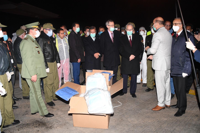 صورة وصول ثاني طلبية لوسائل الحماية من فيروس كورونا إلى الجزائر قادمة من الصين