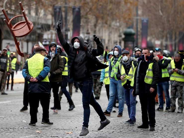 صورة أول احتجاج لـ«السترات الصفراء» بعد تخفيف قيود كورونا في فرنسا