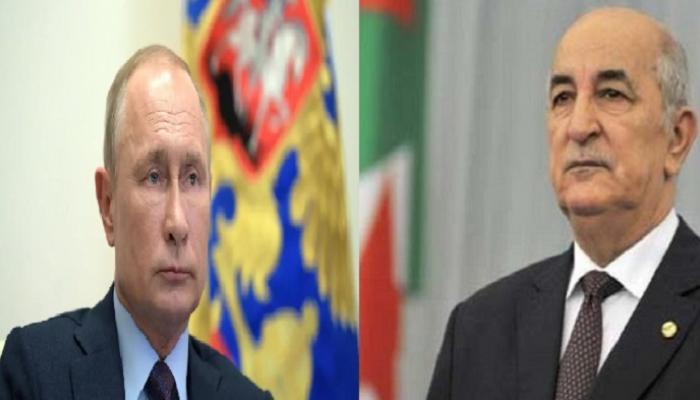صورة تبون يتلقى دعوة من بوتين لقمة بموسكو عقب جائحة كورونا