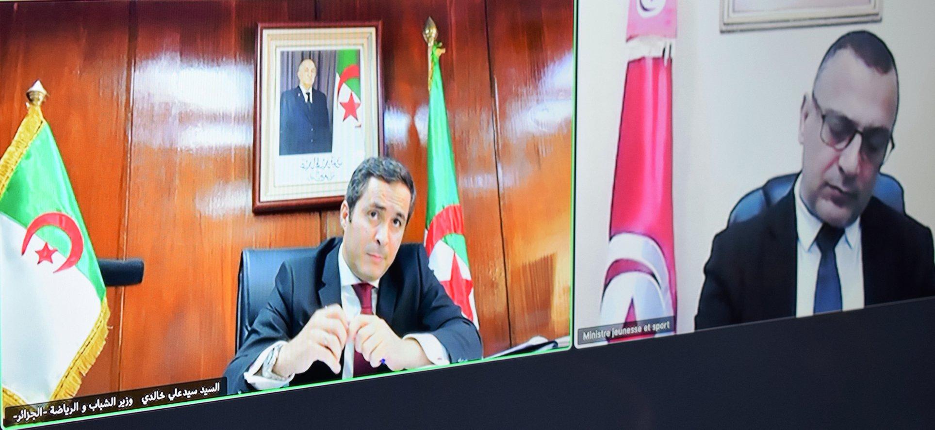 صورة التنسيق في مجالي الشباب والرياضة بين الجزائر وتونس