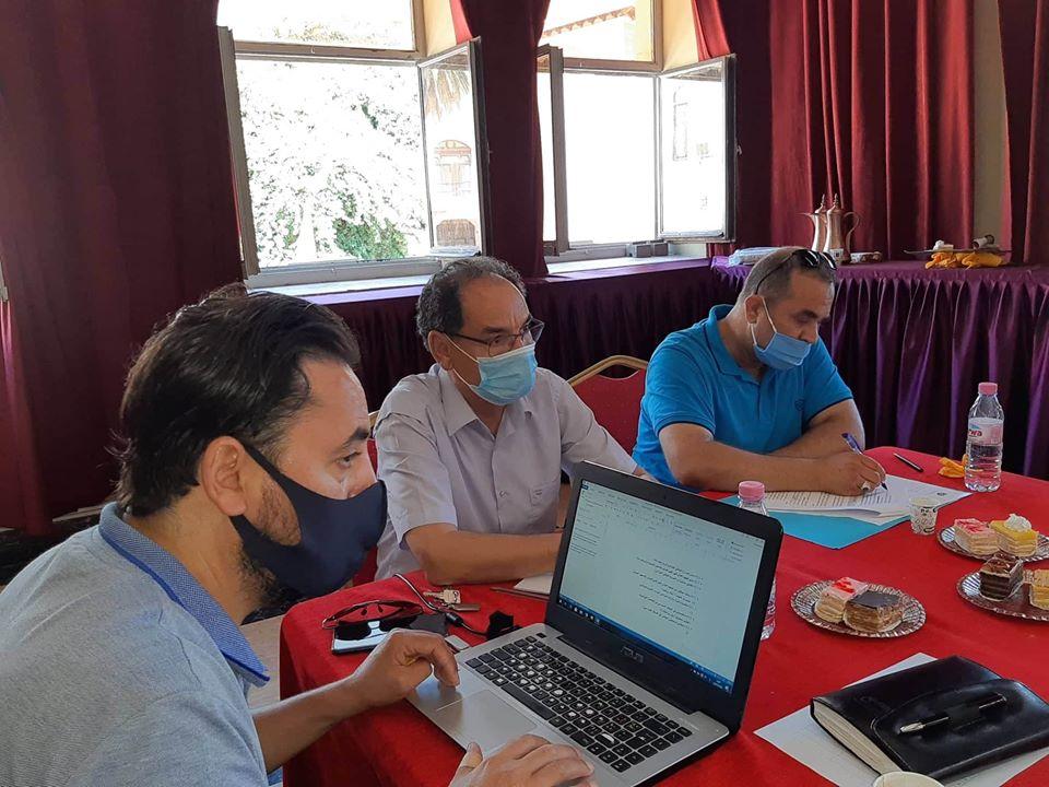 """صورة اجتماع تنسيقي ثاني حول """"المخبر الجزائري للتجارب والأبحاث المسرحية""""ببيت بشطارزي"""