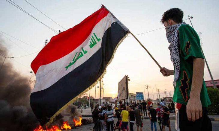 صورة تزامناً مع زيارة ظريف: هجوم صاروخي على المنطقة الخضراء في بغداد