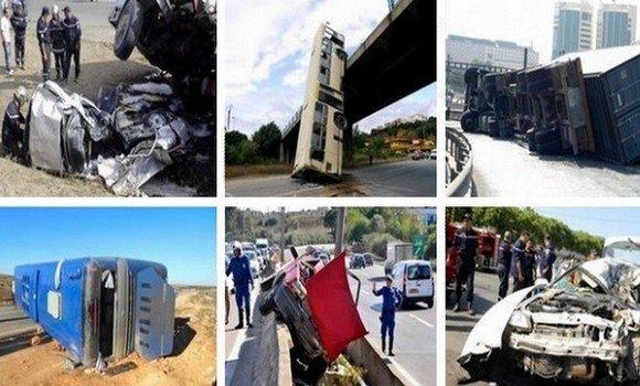 صورة حوادث المرور: وفاة خمسة أشخاص واصابة أزيد من 300 اخرين بجروح خلال ال 48 ساعة الماضية