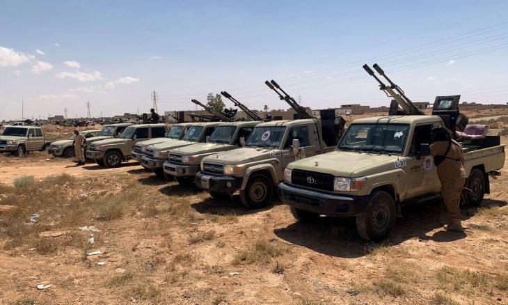 صورة الجيش الليبي: طائرتا شحن روسيتان تحطان بمدينة سرت