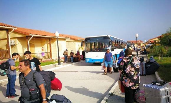 صورة بومرداس: إنتهاء فترة الحجر الصحي لـ 225 مواطن جزائري تم إجلاؤهم من فرنسا