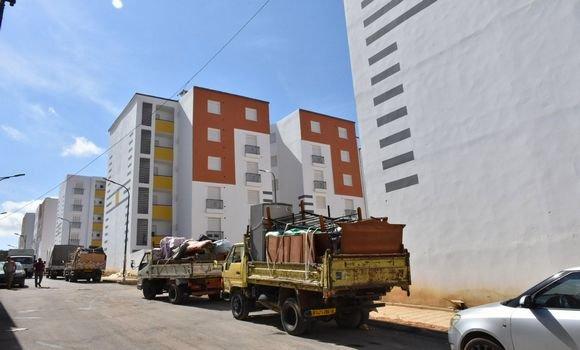 """صورة الجزائر العاصمة: مواصلة انجاز محول جنوب بئر خادم-الطريق الوطني رقم 1، بعد ترحيل سكان """"حي المجاهدين"""""""