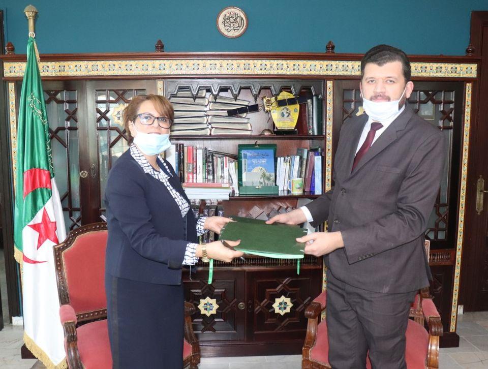 صورة توقيع اتفاقية تعاون لإحداث مؤسسات ناشئة في مجالات التراث والثقافة والفنون