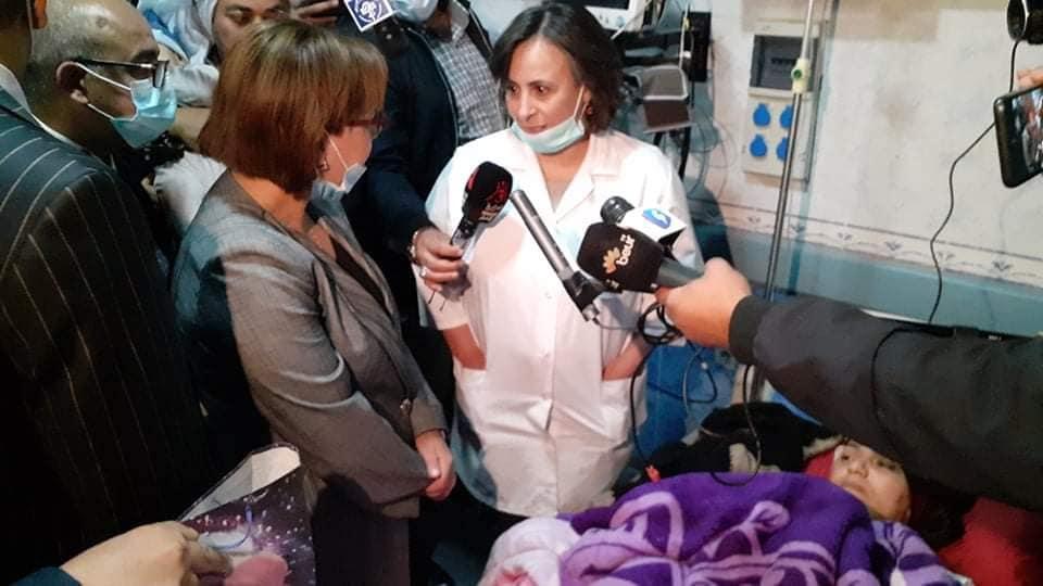 صورة وزيرة التضامن الوطني تؤكد تكفل قطاعها اجتماعيا ونفسيا بالضحايا