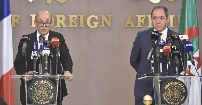 صورة وزير الشؤون الخارجية الفرنسي في الجزائر اليوم