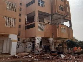 صورة الأغواط :  15 جريحا في انفجار للغاز بمنزل بحي المحافير