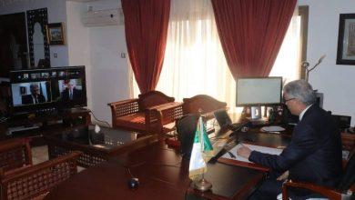 صورة محمد علي بوغازي يعقد لقاءا مع نظيره التونسي