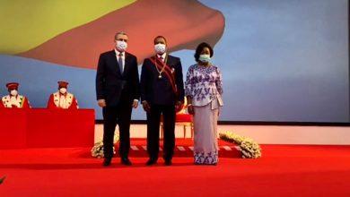 صورة جراد يحضر مراسم أداء اليمين الدستوري للرئيس الكونغولي