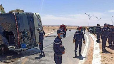 صورة النعامة: حادث مرور يخلف 54 ضحية بجروح متفاوتة الخطورة