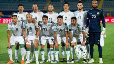 صورة التشكيلة الأساسية للمنتخب الجزائري في المباراة الودية مع تونس