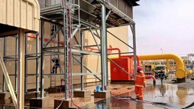 صورة مجمع سونطراك: لم يخلف الحريق الذي نشب بمحطة الضخ للغاز بحاسي رمل أية خسائر بشرية أو مادية