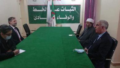 صورة جاب الله يستقبل سفير الاتحاد الأوروبي للتحاور حول الوضع السياسي العام في البلاد