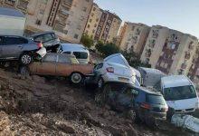 صورة تضرر 125 سيارة مختلفة إثر الفياضانات الأخيرة بالمدية