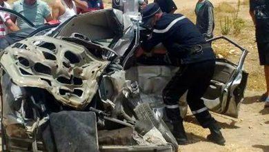 صورة الأغواط… مقتل 4 أشخاص إثرى اصطدام سيارتين