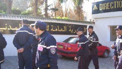 صورة أعوان الحماية المدنية في مسيرة سلمية للمطالبة  بانشغالاتهم الاجتماعية والمهنية