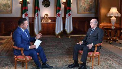 """صورة عبد المجيد تبون:"""" الحراك الشعبي السلمي أنقذ الجزائر من كارثة حقيقة"""""""