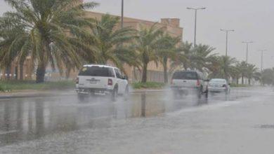صورة تساقط أمطار رعدية على الولايات الغربية وشمال الصحراء