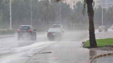 صورة تساقط الأمطار في 5 مناطق غربية