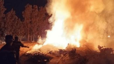 صورة الحماية المدنية تتدخل لاخماد حريق بجبال الشريعة