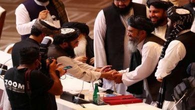 صورة محادثات في الدوحة بين الحكومة الأفغانية وطالبان