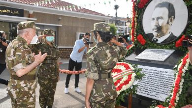 """صورة شنقريحة يقوم بزيارة عمل وتفتيش إلى الأكاديمية العسكرية لشرشال """"الرئيس الراحل هواري بومدين"""""""