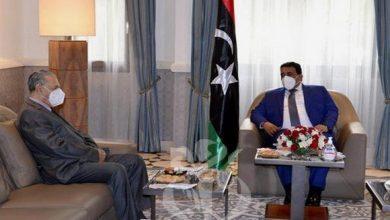 صورة المنفي يستقبل رئيسي مجلس الأمة والمجلس الشعبي الوطني