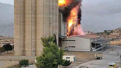 صورة حريق مهول بمطاحن الأوراس بباتنة
