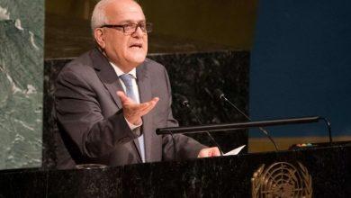 """صورة السفير رياض منصور: فلسطين تطالب بتوفير الحماية الدولية وتستعرض """"الحالة الأمنية الحرجة"""" في غزة"""