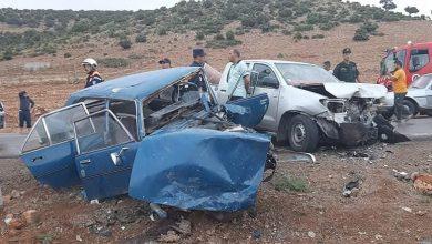 صورة حوادث المرور:  وفاة شخصين وإصابة 108 آخرين نهاية الاسبوع