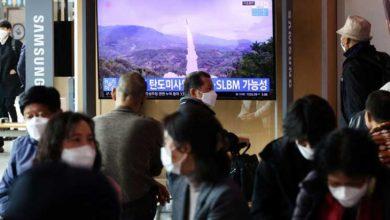 صورة كوريا الشمالية: إطلاق صاروخ بالستي من غواصة