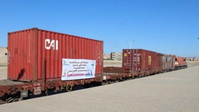صورة إنطلاق أول عملية لتصدير مواد رسكلة الحديد تنقل بالقطار إلى ميناء بجاية