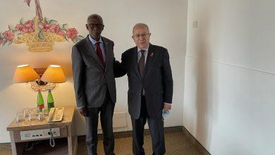 صورة لعمامرة يلتقي بالمستشار الخاص لرئيس دولة إريتريا