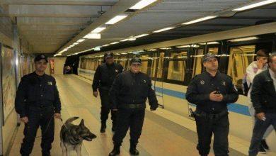 صورة تشكيلات أمنية ثابتة ومتنقلة تضم 300 شرطي لتأمين ميترو الجزائر