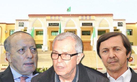 Photo de Athmane Tartag, Mohamed Mediène et Said Bouteflika placés en détention provisoire à Blida