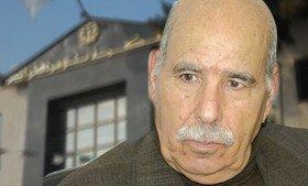 Photo de Lakhder Bouregaa placé en détention provisoire pour démoralisation de l'armée et outrage à corps constitué