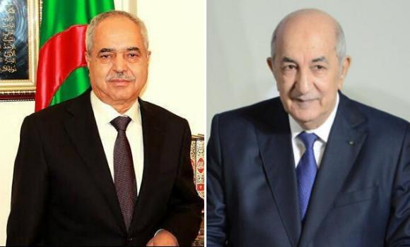 Photo de Le Président Tebboune reçoit l'ancien chef du Gouvernement Ahmed Benbitour